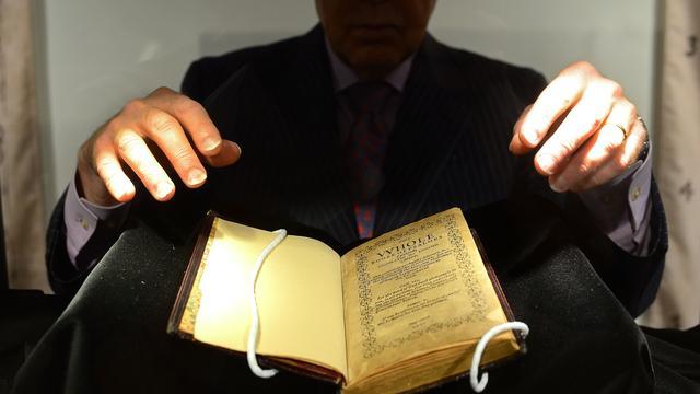 Psalmboekje breekt wereldrecord op veiling New York