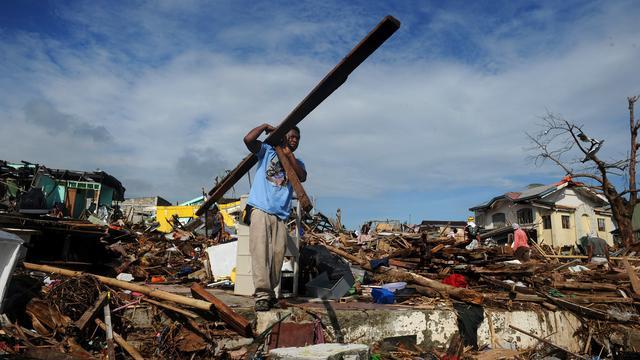 Slachtoffers Filipijnen volop aan het bouwen