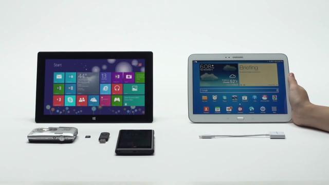 Microsoft maakt Samsung-tablet belachelijk in reclame