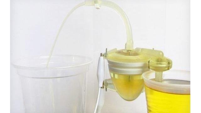 3d-geprint robothart werkt op basis van urine