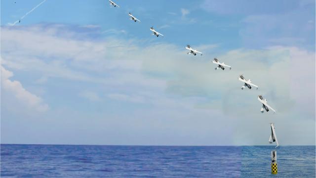 Ondergedoken onderzeeër lanceert drone