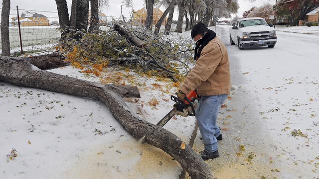 IJzige storm VS zorgt voor transportproblemen