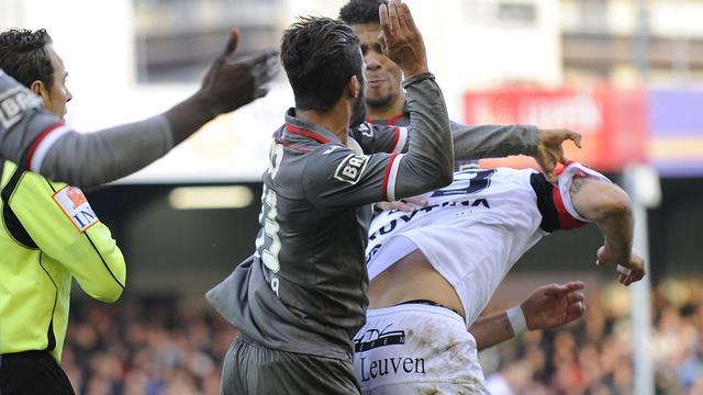 Luik-speler Carcela vier duels geschorst voor klap