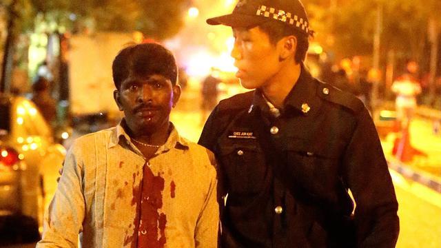 Arrestaties bij ongeregeldheden Singapore