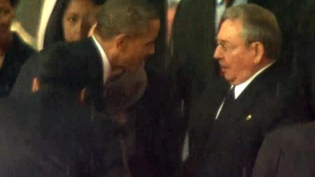 'Handen schudden Obama en Castro was niet gepland'