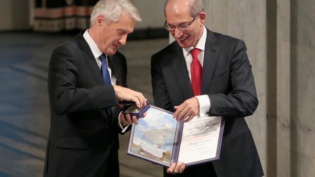 Nobelprijs uitgereikt aan OPCW