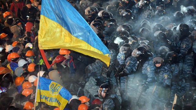 Protest in Oekraïne tegen 'bandieten' in Kiev