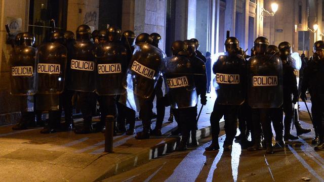 23 gewonden bij protest Madrid