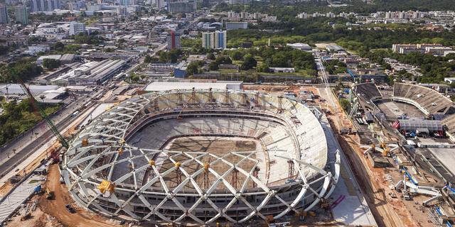 Opnieuw dode bij bouw stadion in Brazilië