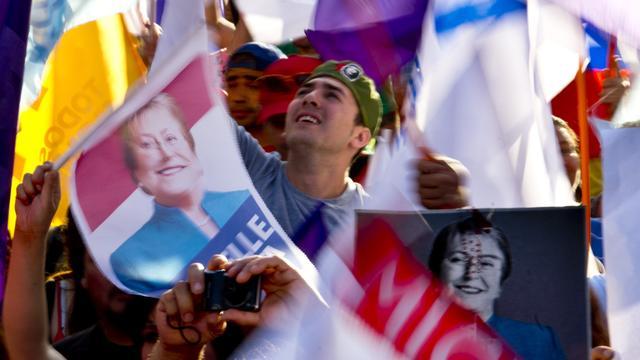 Michelle Bachelet wint verkiezingen Chili
