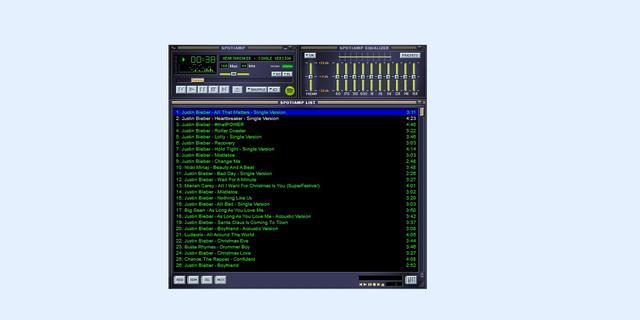 Spotify eert Winamp met ouderwetse muziekspeler