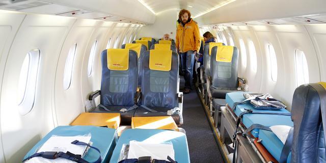 Eerste gipsvlucht aangekomen in Nederland