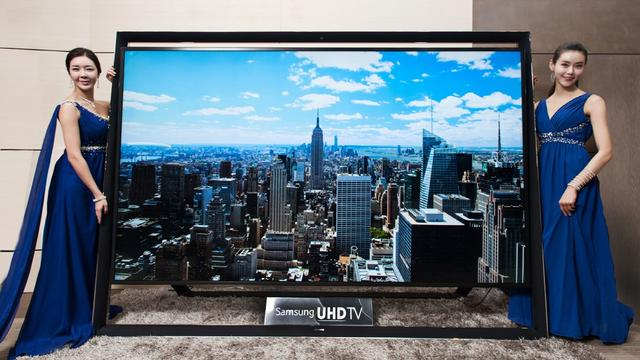 Samsung toont ultra hd-tv van 110 inch