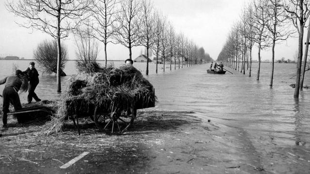 Watersnoodmonument Halsteren beschadigd
