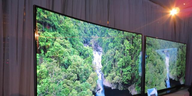 HU8500: Gebogen Samsung-tv met ultra hd legt lat hoog