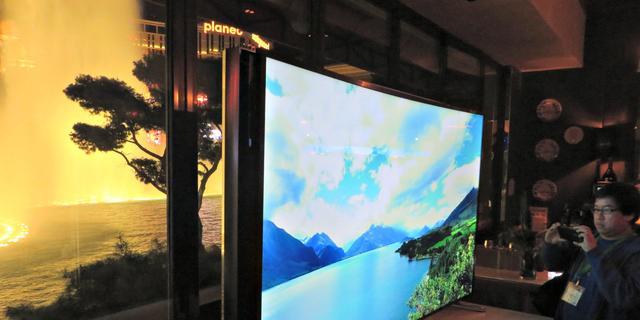 Samsung maakt tv die door gebruiker gebogen kan worden