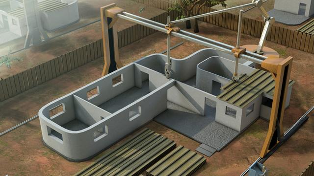 'Grote 3d-printer kan huis bouwen in 24 uur'