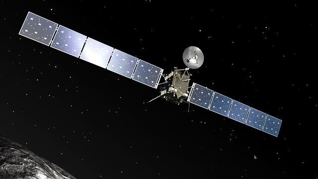 Kometenjager Rosetta verricht eerste temperatuurmeting