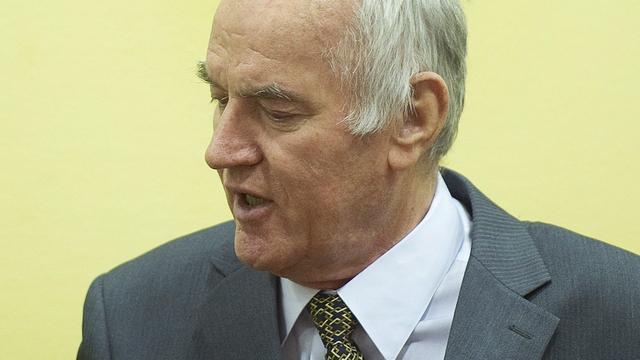 Presentatie bewijs tegen Mladic rond