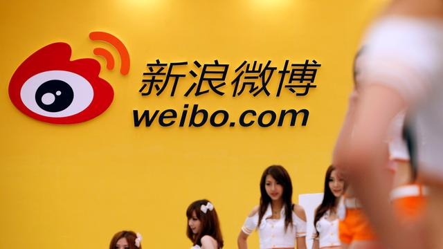 'Microblog Weibo plant beursgang'