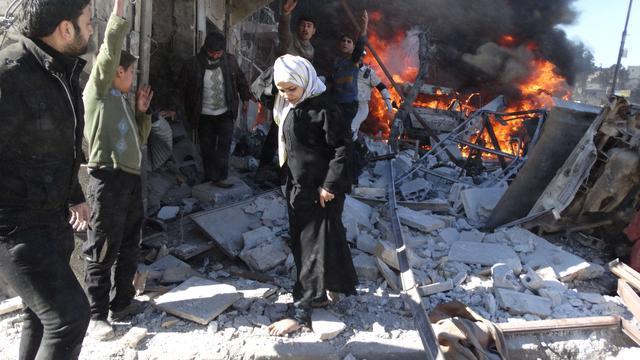 Tientallen doden door vatbommen Aleppo