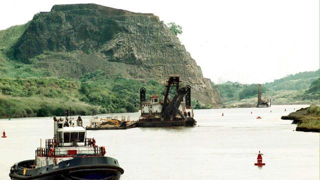 Werk aan Panamakanaal onderbroken