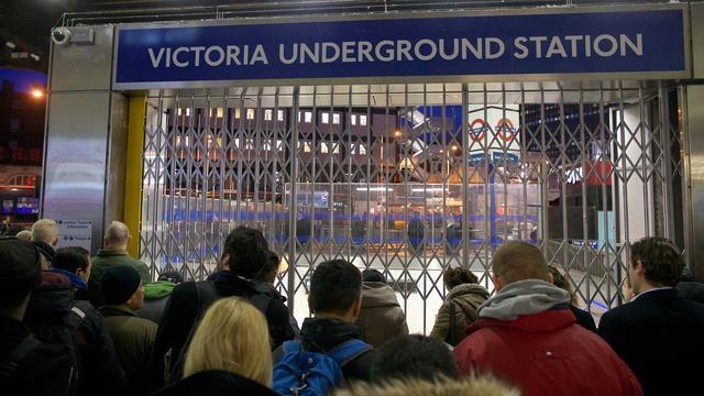 Londense metro valt uit door staking