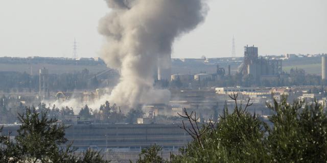 Bloedige luchtaanval in Aleppo
