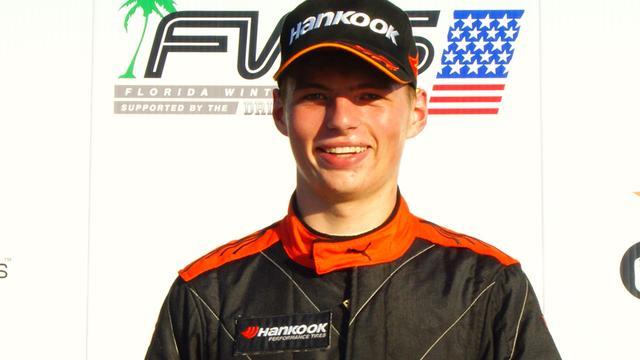Zoon Verstappen wint race in Verenigde Staten