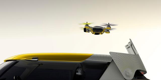 Renault toont zelfrijdende auto en conceptauto met drone