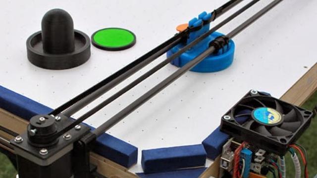3d-printer omgebouwd tot slimme airhockeyrobot