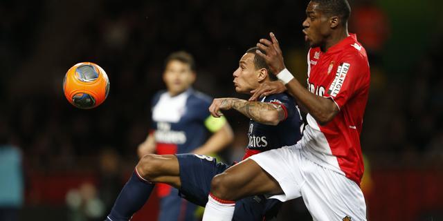 Van der Wiel met PSG niet langs Monaco