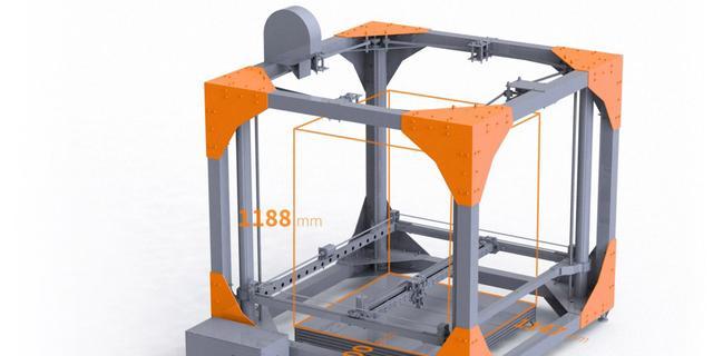 Grote 3d-printer kan meubels printen