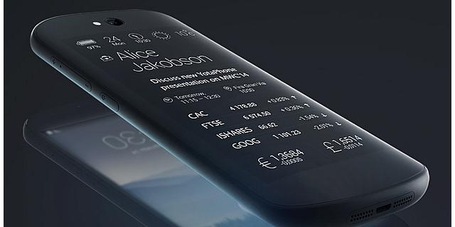 Yotaphone heeft naast touchscreen ook e-ink-touchscreen