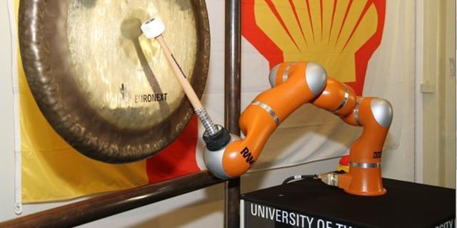 Robot opent Amsterdamse beurs