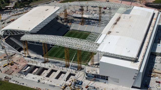 WK-stadion Sao Paulo op zijn vroegst half mei klaar