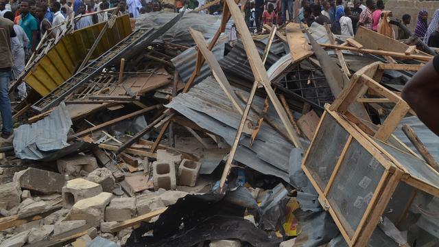 Zeker twaalf doden na instorten Nigeriaanse basisschool