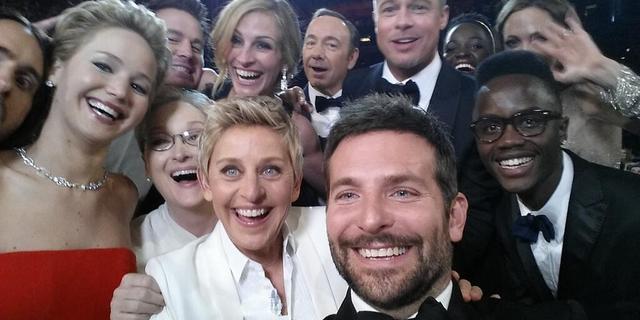 'Selfie' Ellen Degeneres verbreekt Twitterrecords