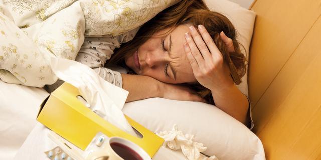 Veel Groningers met griep in bed
