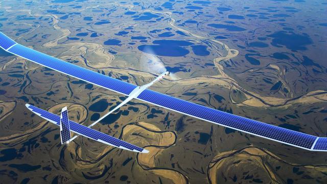 'Google maakt drone op zonne-energie om 5G-internet te verspreiden'