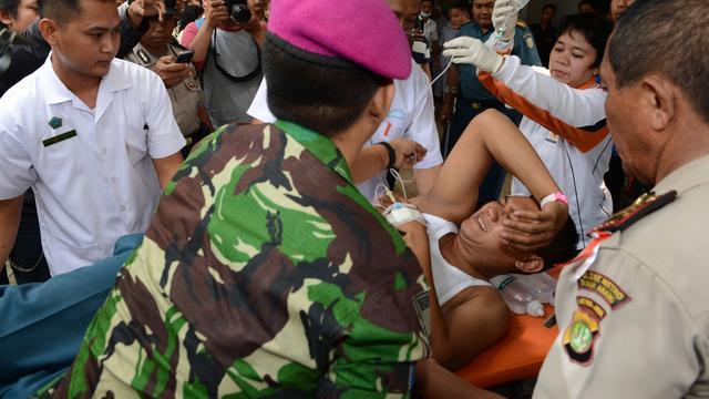 Grote explosie in munitiedepot Jakarta