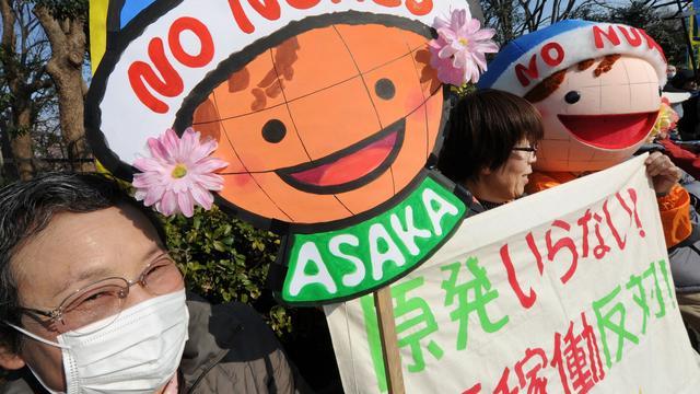 Duizenden Japanners demonstreren tegen kernenergie