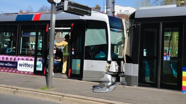 Ruim dertig gewonden bij botsing trams in Rotterdam