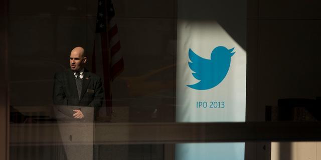 Twitter-koers duikt onder openingsprijs uit 2013