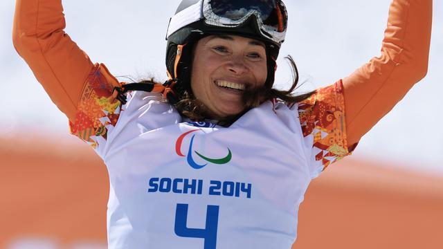 Snowboardster Mentel verovert goud op Paralympics