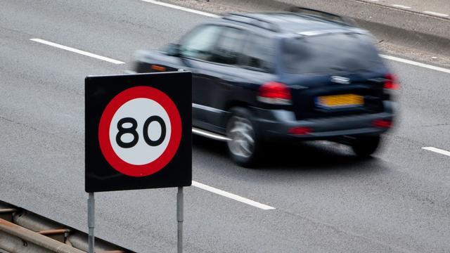 Trajectcontrole A20 bij Rotterdam staat weer aan