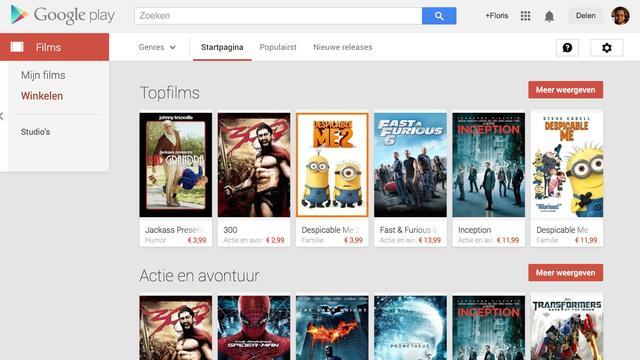 Films op Google Play in Nederland beschikbaar