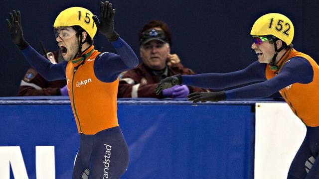 Gouden medaille shorttrackers op aflossing in Seoul