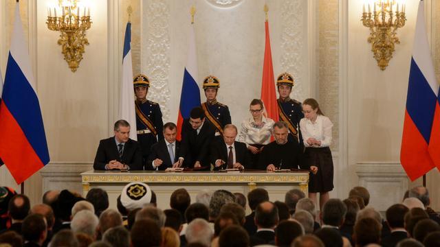Moskou en Kiev praten over crisis