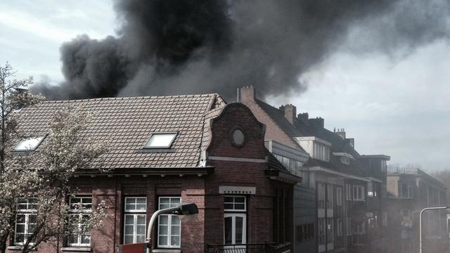 Grote brand in centrum Geleen